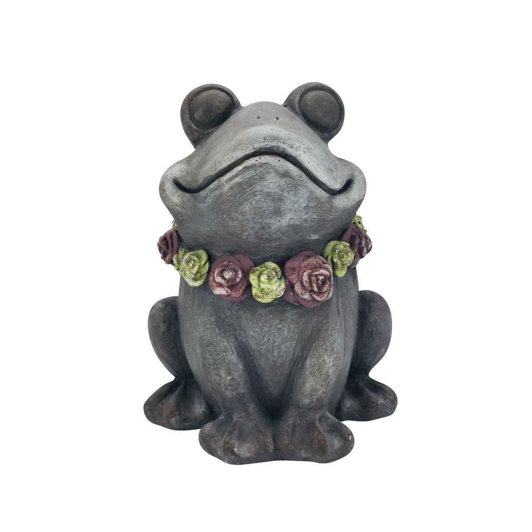 Magnesium Frog with Flower Lei