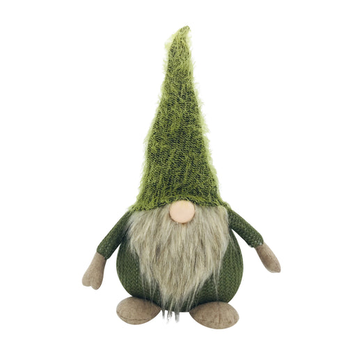 Green Knitted Fabric Gnome