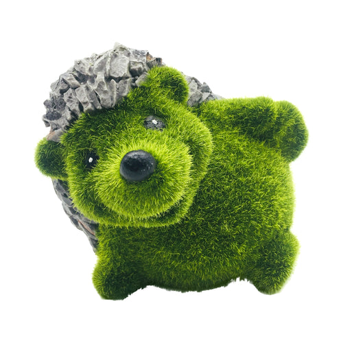 Green Moss Finish Garden Hedgehog