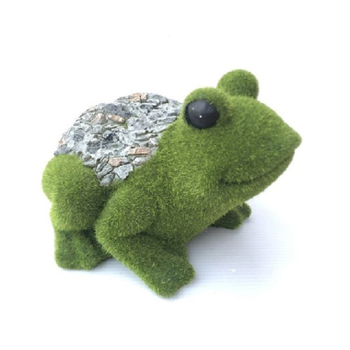 Green Moss Frog Garden Decoration