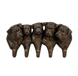 "13"" Resin Bulldog Wall Hooks"