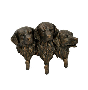 "9""H Resin Dog Head W/Hook 9.06X3.54X7.09"" 1/8Pcs"
