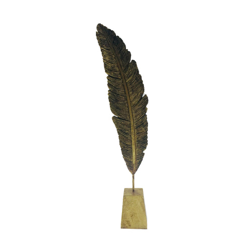 Gold Feather With Base