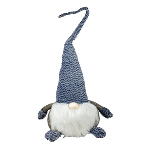 Big Fabric Gnome Deco With Blue Long Hat - Galt International