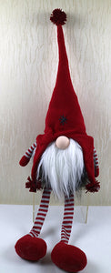 Red Red Fabric Sitting Gnome Decoration10.2X6.7X35.4""