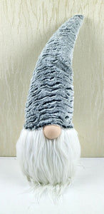 Grey Fabric Gnome Decoration 7.48X7.08X19.68""