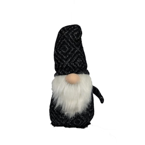 Black White Fabric Fabric Gnome Decoration Bergren Figurine - Galt International