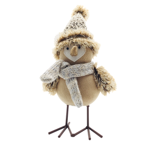 Yellow Gray Fabric Fabric Bird Decoration Figurine - Galt International