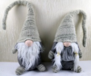 FABRIC GNOME DECORATION BOY AND GIRL
