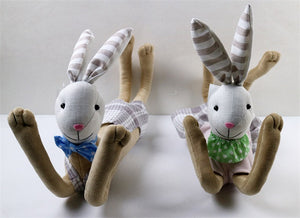 Assorted 2 Fabric  Bunny Decoration