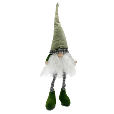 Assorted 2 Fabric Sitting Gnome With Long Legs