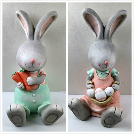 Assorted 2 Sitting  Bunny Deco