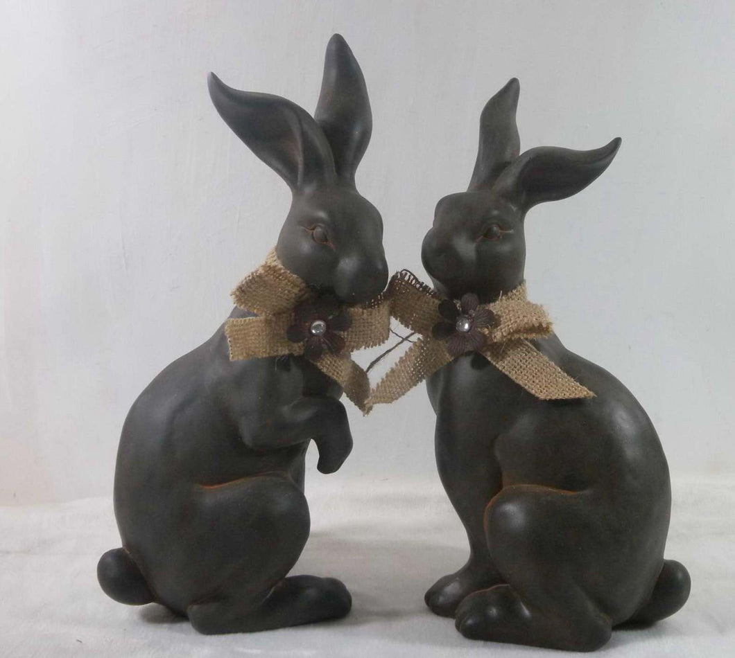 2 Asst Terracotta Rabbit
