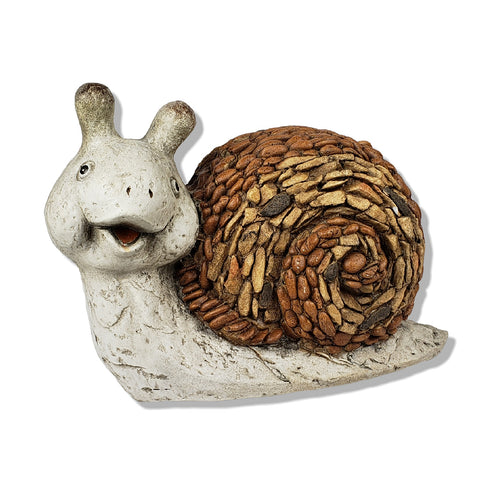 Brown Smiling Garden Snail