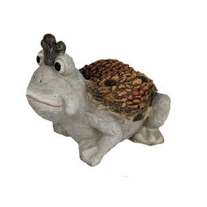 Brown Frog Prince Garden Decoration