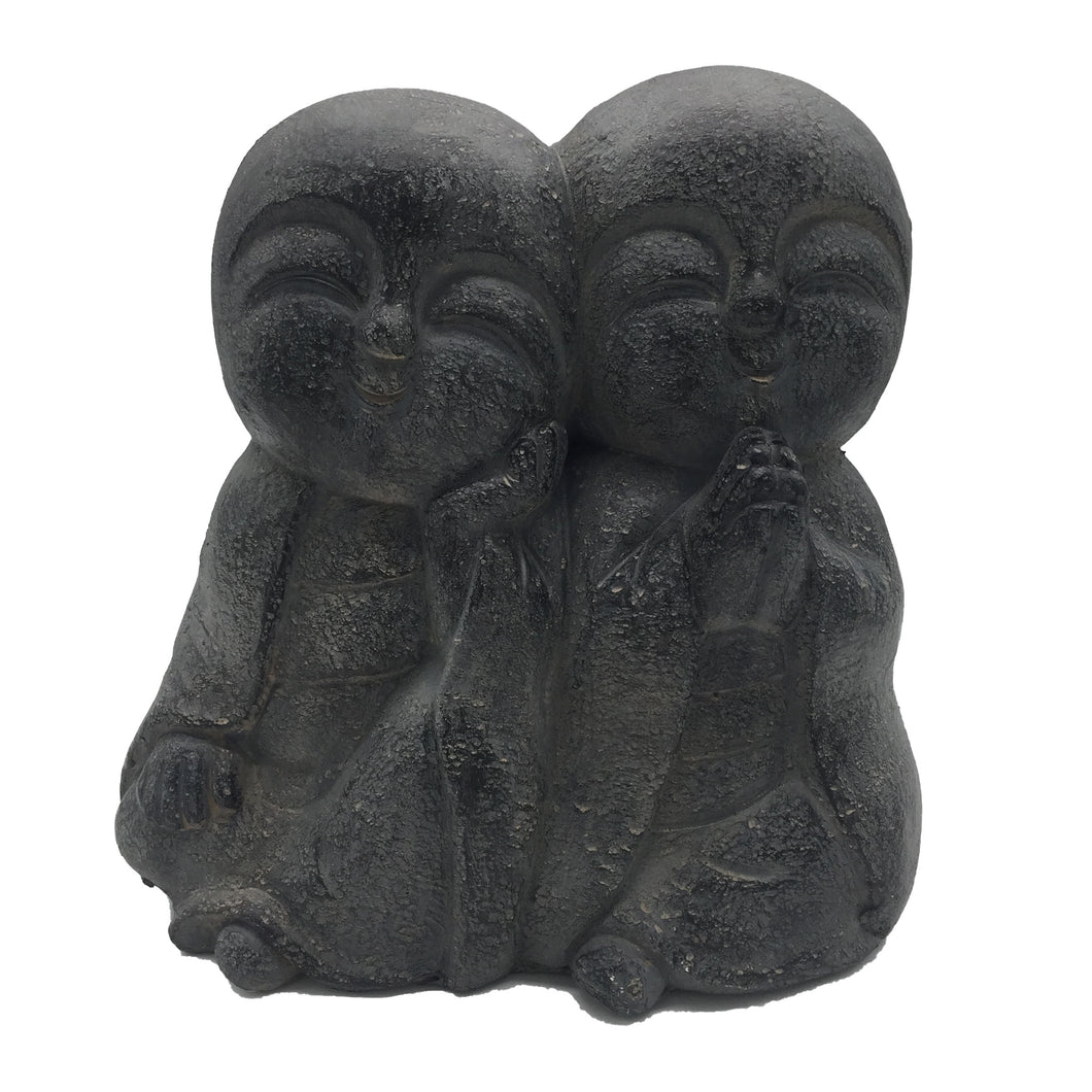 Smiling Monk Duo Garden Decor