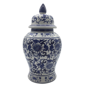 "18"" Blue & White Chinoiserie Ginger Jar"