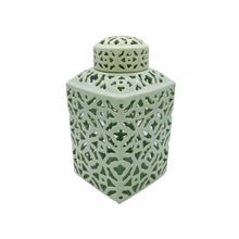 "Load image into Gallery viewer, 15.8"" Lattice Ginger Jar"