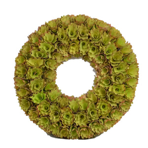 "Gr/Pk Wreath 18.1""D Green/Pink 1/2Pcs - Galt International"