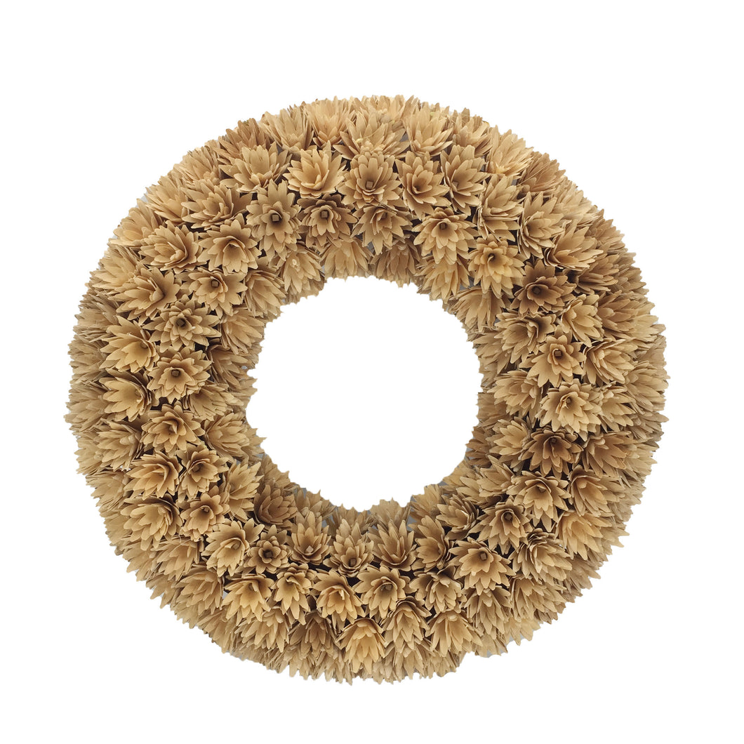Natural Woodchip Wreath