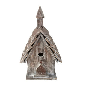 Natural Wood Bird House