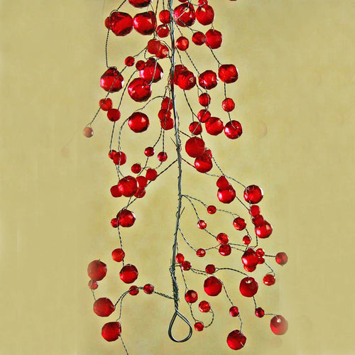 Red 4' Crystal Garland