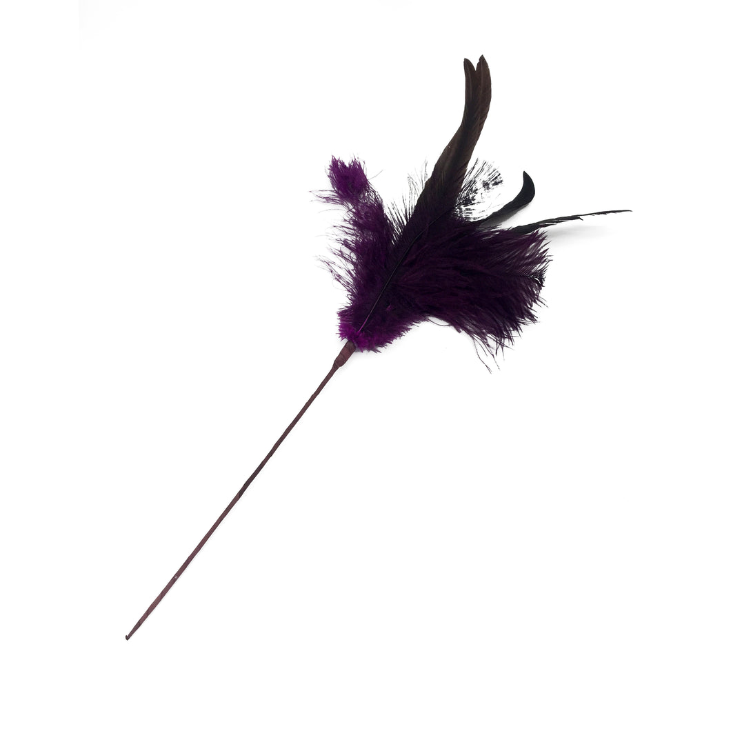 Purple Ostrich Feather Pick 12/240 Pcs