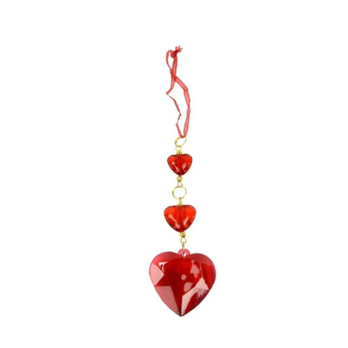 CONTEMPORARY ACRYLIC WIRE RIBBON HEART SHAPED ORNAMENT - Galt International
