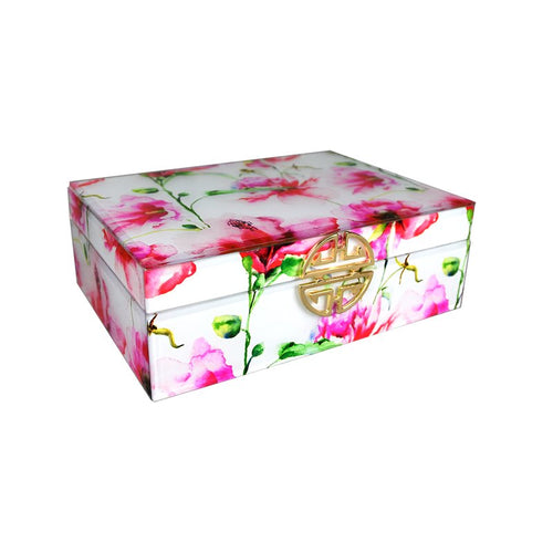 ASIAN WOOD ACRYLIC FELT JEWELRY BOX - Galt International