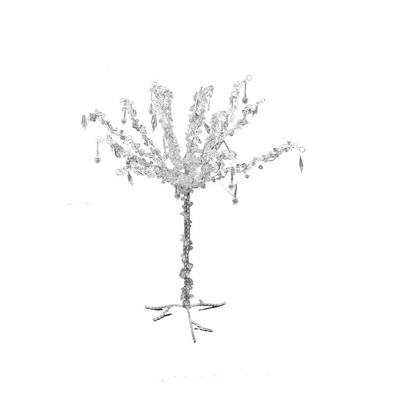 Silver Silver Metal Tree W/Crystal Beads 22