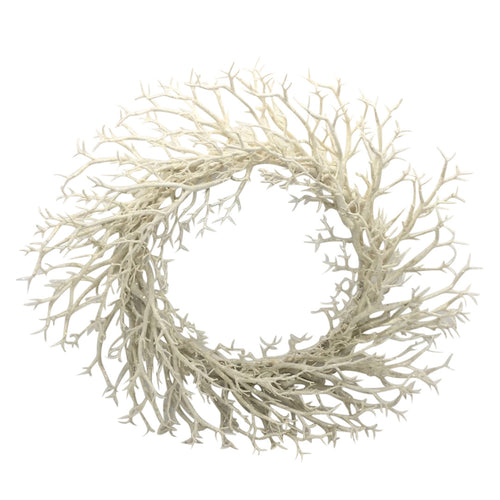 White Branch Wreath