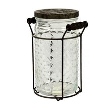 Load image into Gallery viewer, Clear Glass Jar with Metal Stand