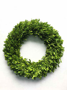 "Green Dia 18"" Boxwood Wreath1/4Pcs"