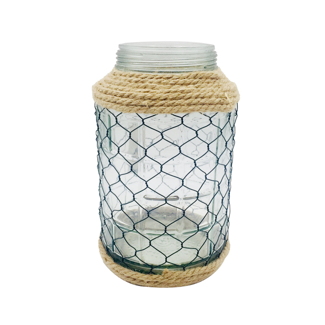 Clear Glass Jar With Net