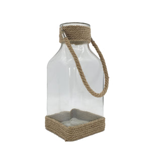 Candle Holder With Rope Handle