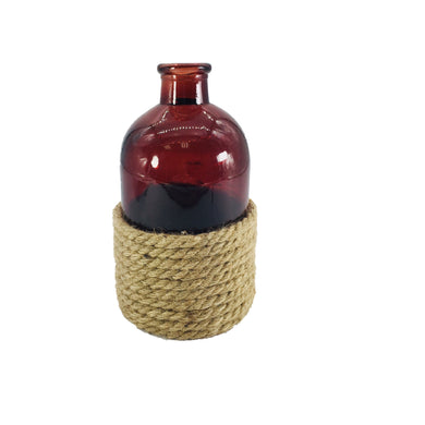 AMBER BOTTLE W/ROPE AMBER