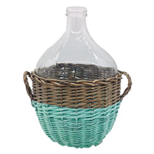 Load image into Gallery viewer, Glass Jar in Willow Basket