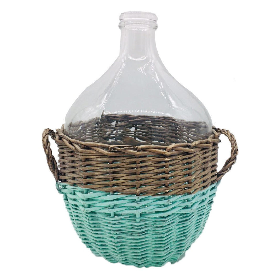 Glass Jar in Willow Basket