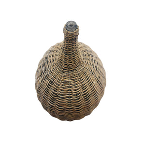 Brown Woven Willow Jar Decor