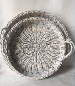 S/2 Willow Round Tray 0/6Sets