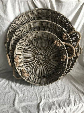 S/3 WILLOW ROUND TRAY 0/4SETS
