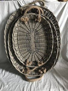 S/3 WILLOW ELLIPSE TRAY 0/4SETS