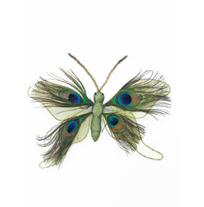 Green Feather Butterfly With Hanger