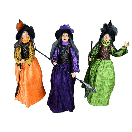 Set of 3 Halloween Witches 8.27X7.87X15.75