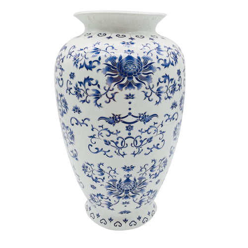 Blue & White Chinoiserie Porcelain Vase