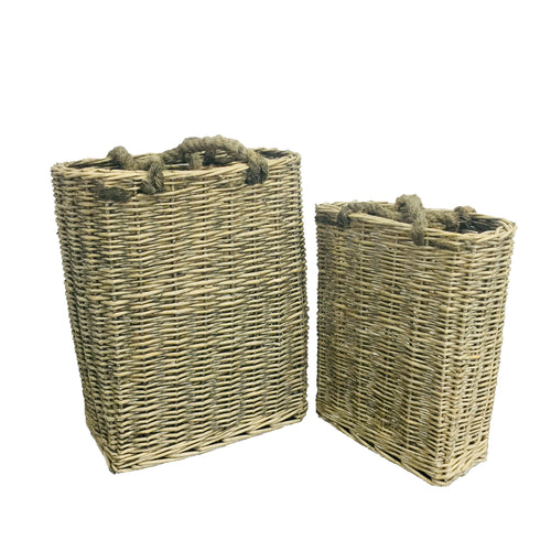 Grey S/2 Willow Basket Grey 0/4Sets