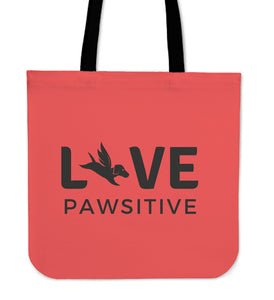 Tote Bag | Live Pawsitive - Red