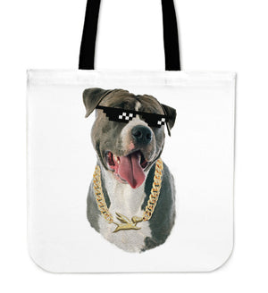 Tote Bag | Pitbull Thug Life - 5 Colors
