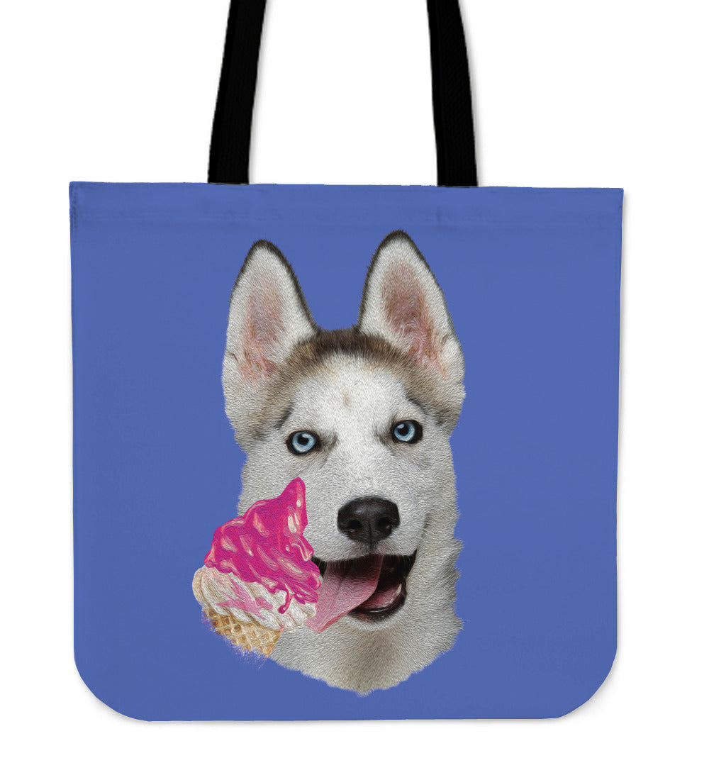 Tote Bag | Husky and Ice Cream - 5 Colors