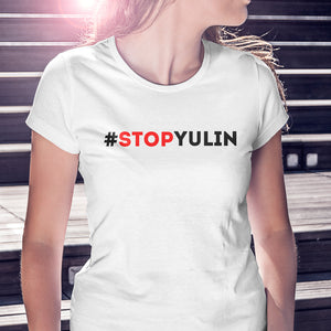 Women's White Tee | Stop Yulin